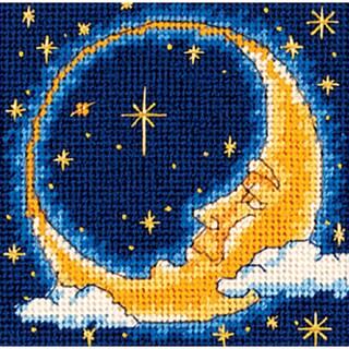 "Moon Dreamer Mini Needlepoint Kit-5""X5"" Stitched In Yarn"