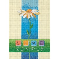 "Live Simply Mini Counted Cross Stitch Kit-5""X7"""