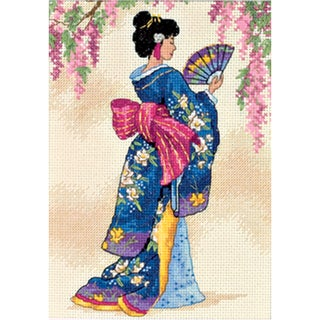 "Gold Collection Petite Elegant Geisha Counted Cross Stitch K-5""X7"""