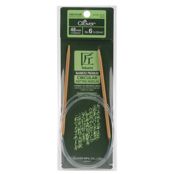 "Bamboo Circular Knitting Needles 48""-Size 6"