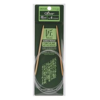"Bamboo Circular Knitting Needles 48""-Size 4"
