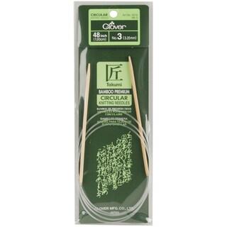 "Bamboo Circular Knitting Needles 48""-Size 3"