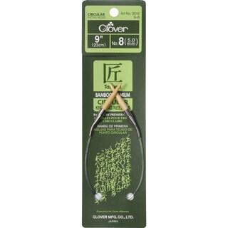 "Bamboo Circular Knitting Needles 9""-Size 8"