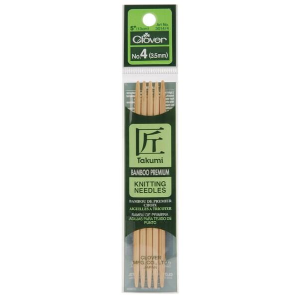 "Bamboo Double Point Knitting Needles 5"" 5/Pkg-Size 5"
