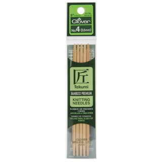 "Bamboo Double Point Knitting Needles 5"" 5/Pkg-Size 5"