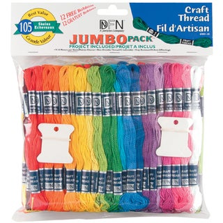 Craft Thread Jumbo Pack 9.14 Meters 105/Pkg-Assorted Colors