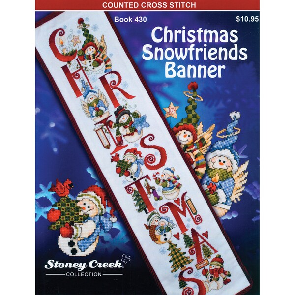 Stoney Creek - Christmas Snowfriends Banner Counted Cross-stitch
