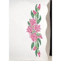 """Stamped Pillowcase Pair 20""""X30"""" For Embroidery-Tiger Lily"""
