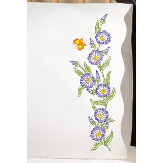 """Stamped Pillowcase Pair 20""""X30"""" For Embroidery-Morning Glories"""