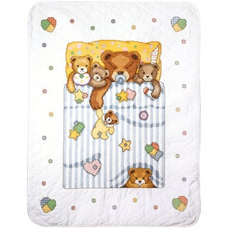 Under The Covers Baby Quilt Stamped Cross Stitch Kit 34