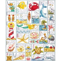 """Ocean ABC Counted Cross Stitch Kit-16""""X20"""" 14 Count"""