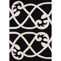 Alliyah Handmade Jet Black New Zealand Blend Wool Rug  (8' x 10')