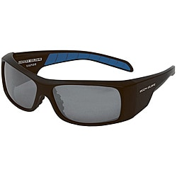 Body Glove 'Vapor 9' Matte Black Mirrored Polarized Sunglasses