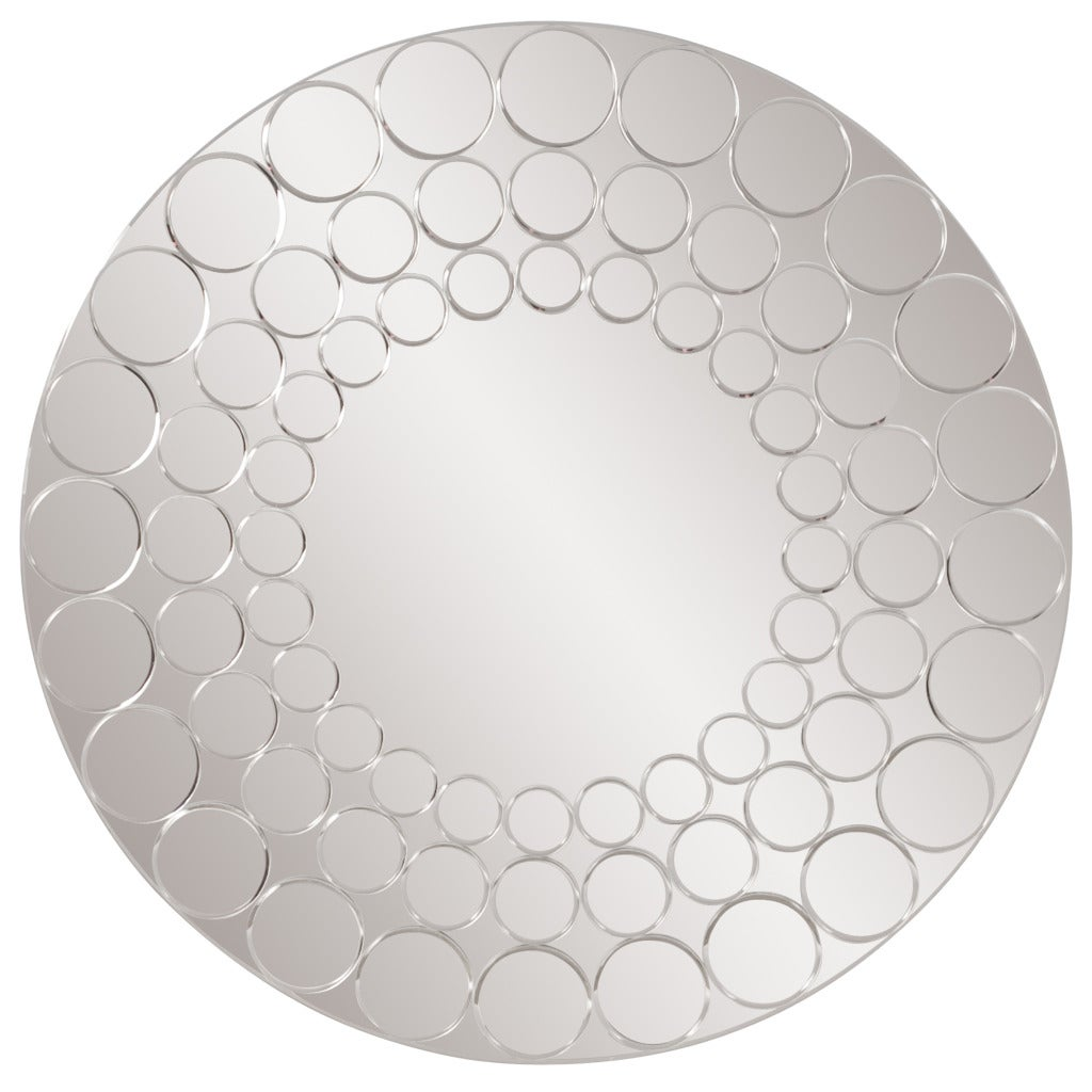 Bubbles Round Mirror