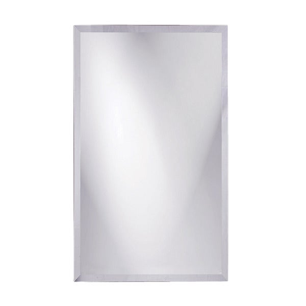 Frameless beveled rectangular mirror free shipping today for 16 in x 60 in beveled door mirror