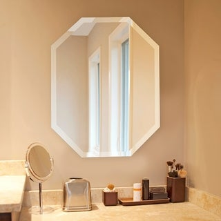 Link to Frameless Beveled Octagonal Wall Mirror - 22 x 28 Similar Items in Decorative Accessories
