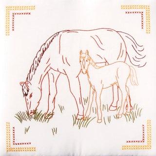 """Stamped White Quilt Blocks 18""""X18"""" 6/Pkg-Colt & Mare"""
