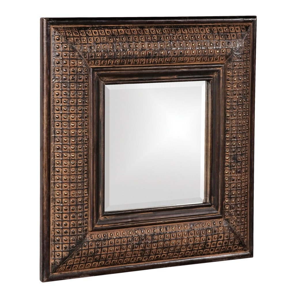 Shop Grant Antique Brown Wall Mirror N A Free Shipping