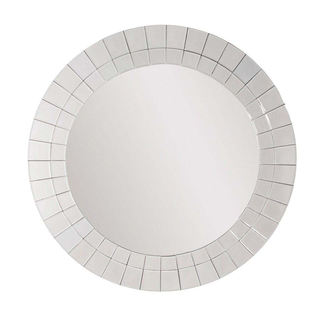 Pizzaz Round Silver Mirror
