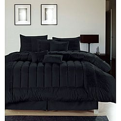 Sevilla Black Oversized 8 Piece Comforter Set Free Shipping Today Oversto