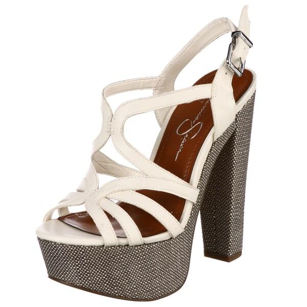 Jessica Simpson 'Cizal' Ivory Strappy Heel