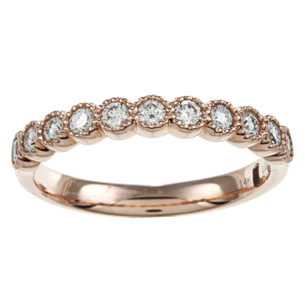 14k Rose Gold 1/3ct TDW Diamond Infinity Band (G-H, SI2)