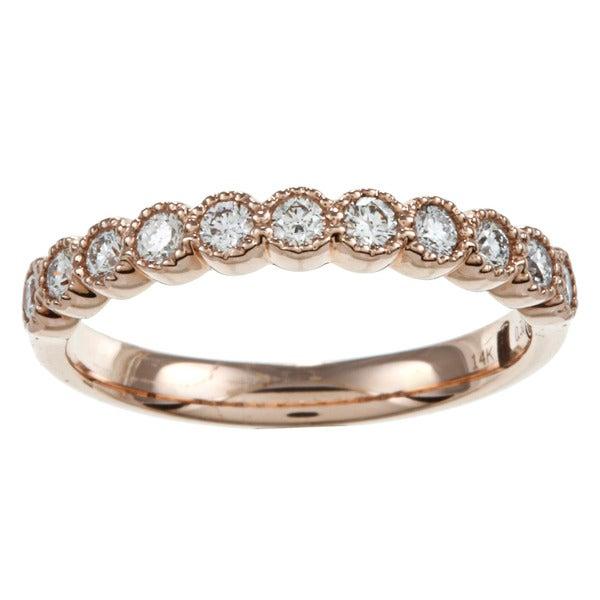 14k Rose Gold 1/3ct TDW Diamond Infinity Band (G-H, SI2)