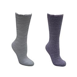 Muk Luks Machine-Washable Women's Micro-Chenille Knee-High Socks (Two Pairs)
