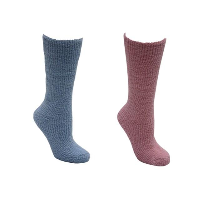 Mukluks Women's Micro Chenille Knee High Socks (2 Pairs) ...