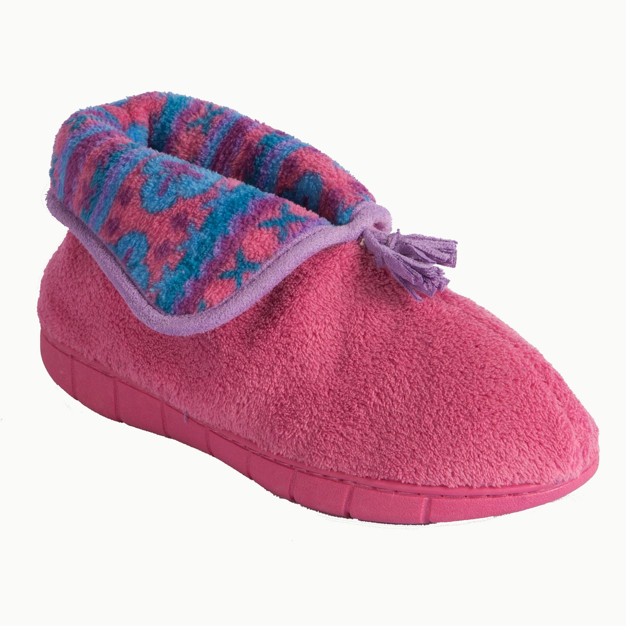 Muk Luks Women's Pink Fleece Slippers