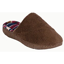 Muk Luks Women's 'Petal Spiral' Brown Scuff Slippers
