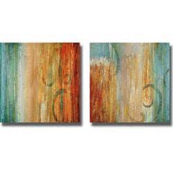 Max Hansen 'Perennial I and II' 2-piece Canvas Art Set