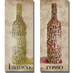 Sd Graphics 'Blanco and Rosso Wine' 2-piece Canvas Art Set