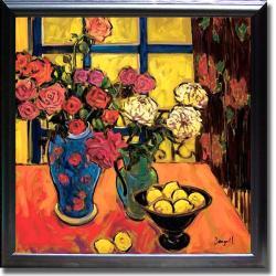 Jae Dougall 'Roses' Framed Canvas Art