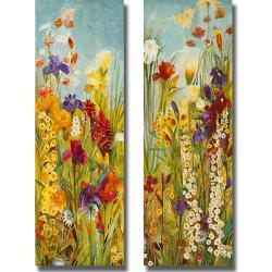 Jill Martin 'Merriment I and II' 2-piece Canvas Art Set