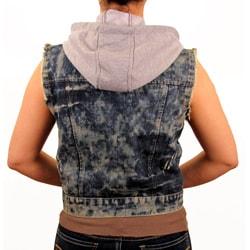 Knoles and Carter Women's Denim Vest with Detachable Hood
