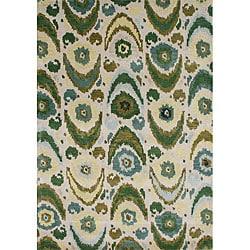 Alliyah Handmade Olive Green New Zealand Blend Wool Rug (8 x 10)