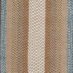 Safavieh Hand-woven Reversible Brown Braided Rug (9' x 12' Oval) - Thumbnail 2