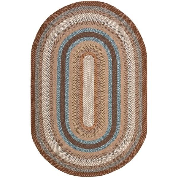 Shop Safavieh Hand Woven Reversible Brown Braided Rug 9 X 12
