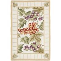 Safavieh Hand-hooked Fruits Ivory Wool Rug - 1'8 x 2'6