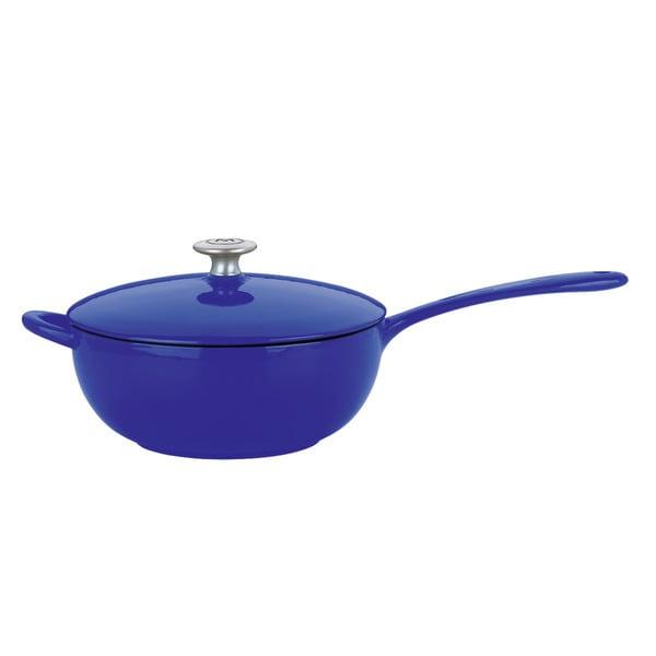 Dansk Blue Cast Iron 4-quart Saucepan