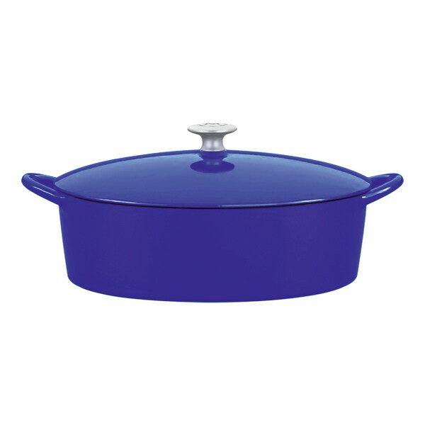 Mario Batali by Dansk Classic Blue 6-quart Oval Cast Iron Dutch Oven