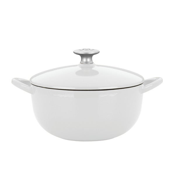 Mario Batali by Dansk Classic White 3-quart Cast Iron Soup Pot