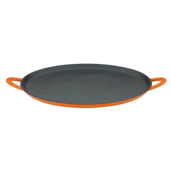 Mario Batali by Dansk Classic Persimmon 12-inch Cast Iron Pizza Pan/ Griddle