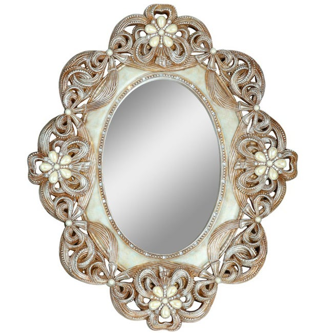 30 inch high Vintage Rose Mirror