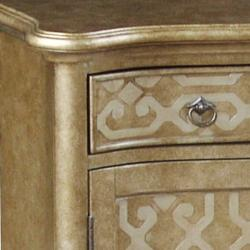 Hand-painted Distressed Gold/ Silver Finish Chest - Thumbnail 2