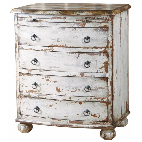 Hand-painted Distressed Antique White Chest