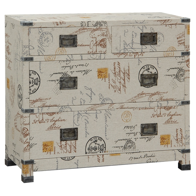Hand-painted Linen Finish Accent Chest
