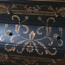 Hand-painted Black Finish Bombay Accent Chest