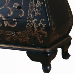 Hand-painted Black Finish Bombay Accent Chest - Thumbnail 2